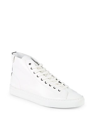 HOUSE OF FUTURE Original Leather High-Top Sneakers in White