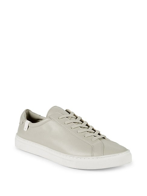 HOUSE OF FUTURE Original Low Top Leather Sneakers in Concrete