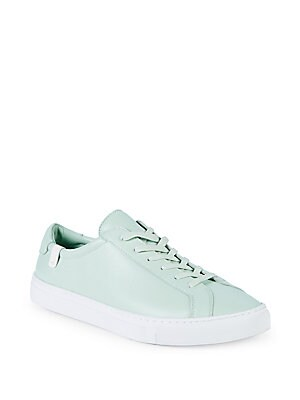 HOUSE OF FUTURE Original Low Top Leather Sneakers in Pale Aqua