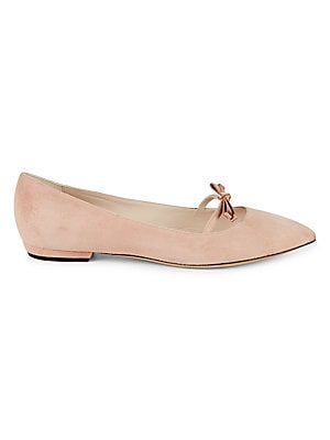 Point-Toe Suede Flats