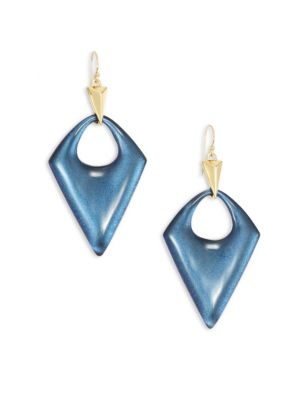 Alexis Bittar Pointed Pyramid Lucite Drop Earrings
