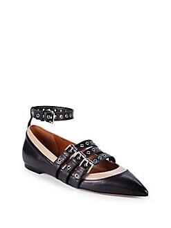 3d0f1ff7443 Valentino Garavani. Strappy Leather Ballet Flats