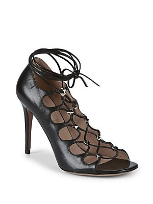Studded Leather Strappy Sandals