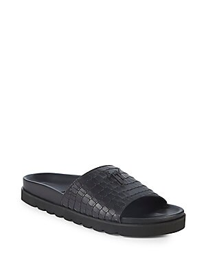 Giuseppe ZanottiCrocodile embossed leather loafer ARCHIBALD CLASSIC rB55pAoZf