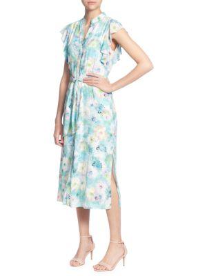 Catherine Catherine Malandrino Fredda Floral Midi Dress
