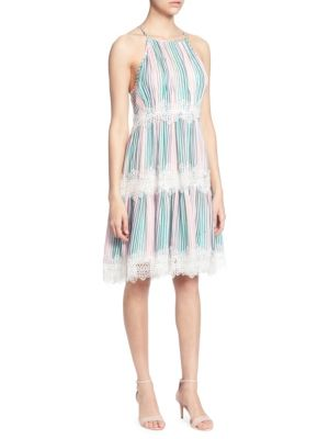 Catherine Catherine Malandrino Sidonie Lace-Trimmed Knee-Length Dress