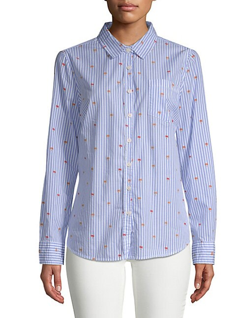 ALEXANDER JORDAN | Striped Long-Sleeve Cotton Button-Down Shirt | Goxip