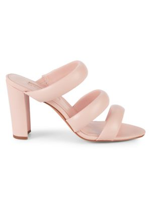 AVEC LES FILLES Mara Leather Sandals in Pink