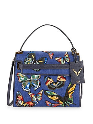 Butterfly Top Handle Bag
