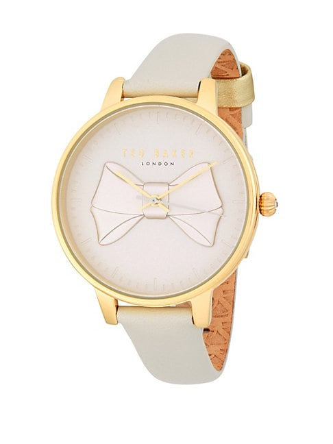 Bow Leather-Strap Watch