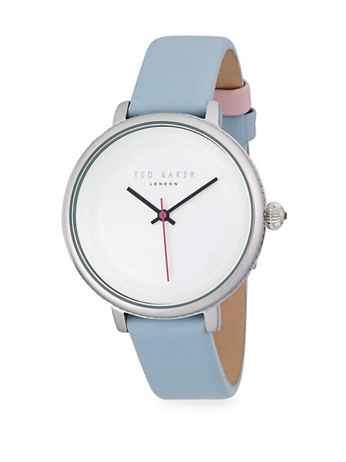 TED BAKER | Stainless Steel and Leather-Strap Watch | Goxip