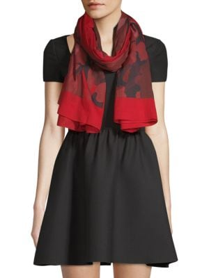 Valentino Scarves Cotton Camouflage Shawl