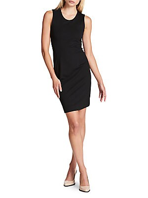 Textured Sleeveless Sheath Dress by Donna Karan