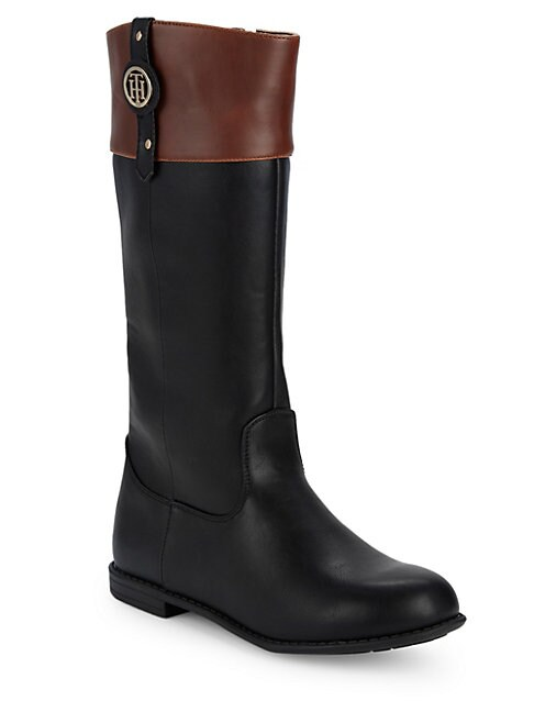 TOMMY HILFIGER | Little Girl's & Girl's Andrea Nameplate Mid-Calf Boots | Goxip