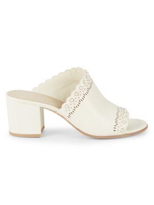 Pour La Victoire Slides Amela Leather Sandals