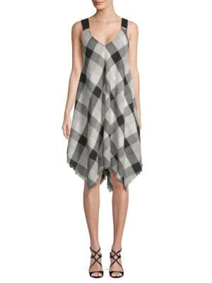 Moon River Gingham Handkerchief Dress