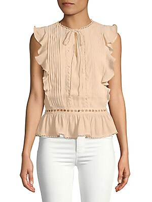 cacbb22f5c78fc Theory - Dezzie Smocked Silk Georgette Blouse - saksoff5th.com