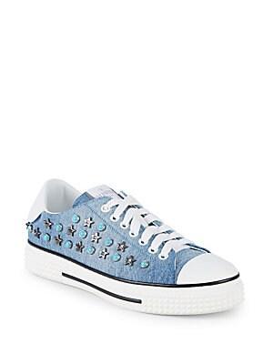 Embellished Flatform Sneakers