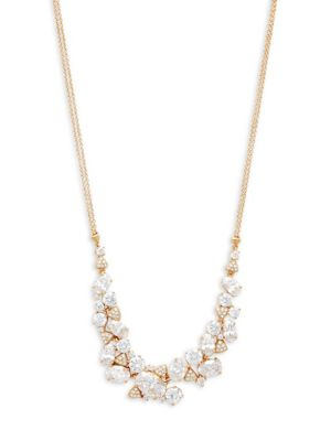 Adriana Orsini Crystal Cluster Frontal Necklace
