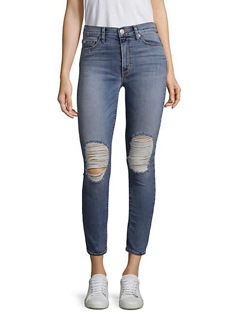 Barbara High-Waist Ripped Jeans