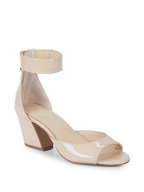 Pilar Patent Leather Ankle-Strap Sandals