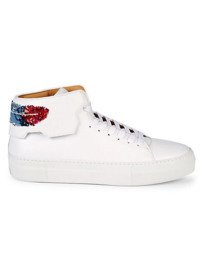 55bc24f42b3 BUSCEMI Unisex Feather Heel High-Top Sneakers ...