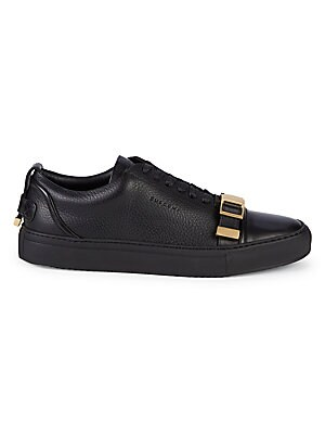 Unisex Buckle Strap Leather Sneakers by Buscemi
