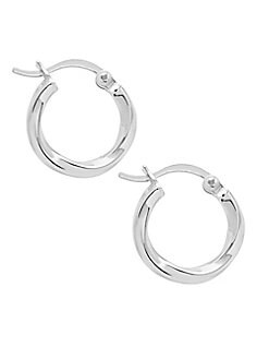 a9fa1a48d Sterling Forever. Sterling Silver Twist Hoop Earrings
