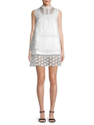 Avantlook Polka Dot Layered Dress