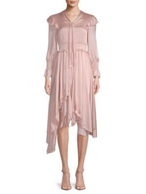 Avantlook Ruffled Long-Sleeve Dress