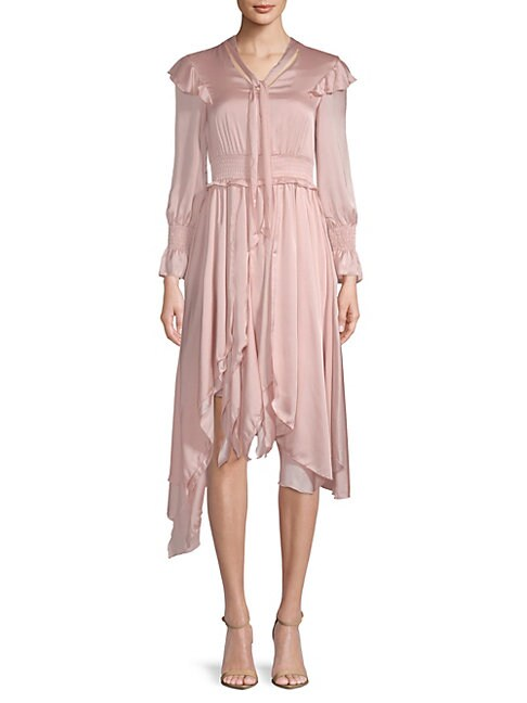 AVANTLOOK | Ruffled Long-Sleeve Dress | Goxip