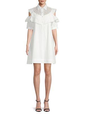 Avantlook Cold-Shoulder Shift Dress