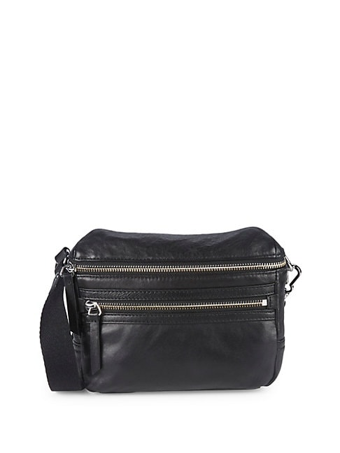 Leather Zip Fanny Pack