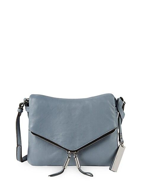 Leather Envelope Front Crossbody Bag