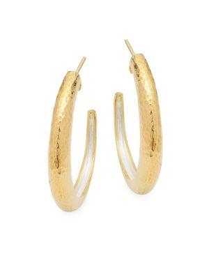 Gurhan Sterling Silver Hammered Earrings