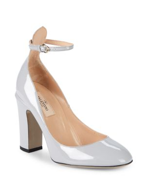 Tango Patent Leather Pumps in Light Grey