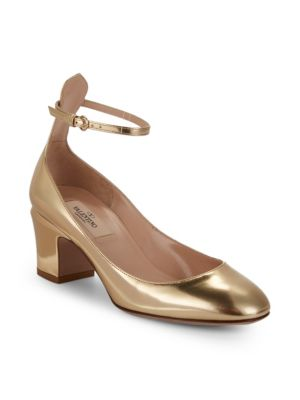 Tango Metallic Leather Pumps in Gold