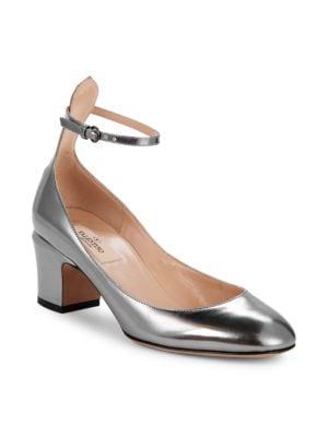 Tango Metallic Leather Pumps in Silver