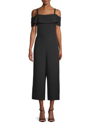 KARL LAGERFELD Cold-Shoulder Cropped Jumpsuit