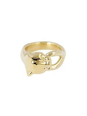 PANTHER 14K YELLOW GOLD RING