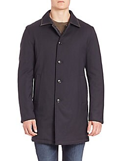Saks Fifth Avenue - COLLECTION Reversible Quilted Wool Blend Coat
