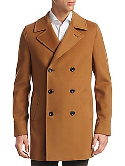 Saks Fifth Avenue - COLLECTION Double-Breasted Peacoat