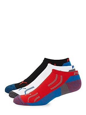 Three-Pack Varied No Show Socks