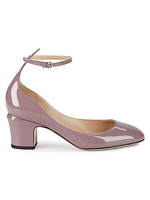 Rockstud Leather Ankle Strap Pumps by Valentino Garavani