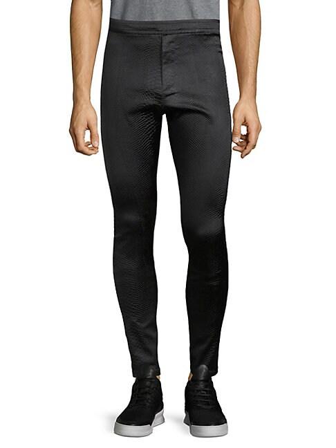 Python-Embossed Pants