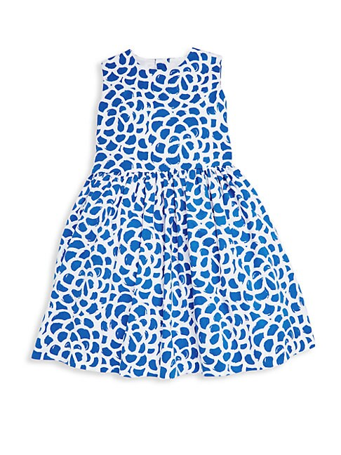 Little Girl's & Girl's Camellia-Print Party Dress
