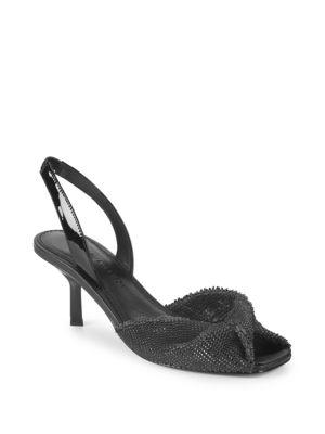 SIGERSON MORRISON Jana Leather Slingback Sandals in Black