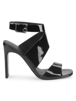 SIGERSON MORRISON Imala Patent Leather Sandals in Black