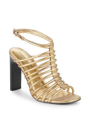 Ilyssa Metallic Strappy Sandal in Gold