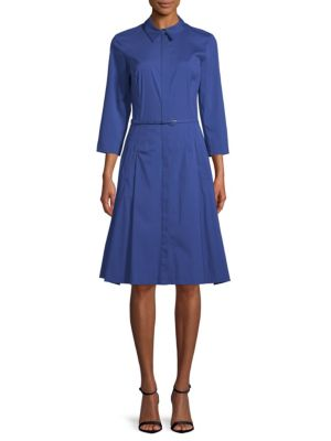 Oscar De La Renta Belted Shirt Dress